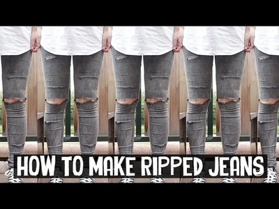 HOW TO MAKE RIPPED JEANS - DIY | Rocknroller