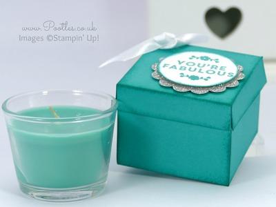 Jacob's Ikea Candle Jar Box Tutorial using Stampin' Up! Supplies