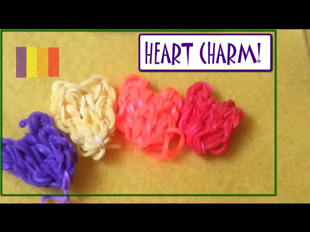 Loom Band Tutorial|Heart|Rainbow loom