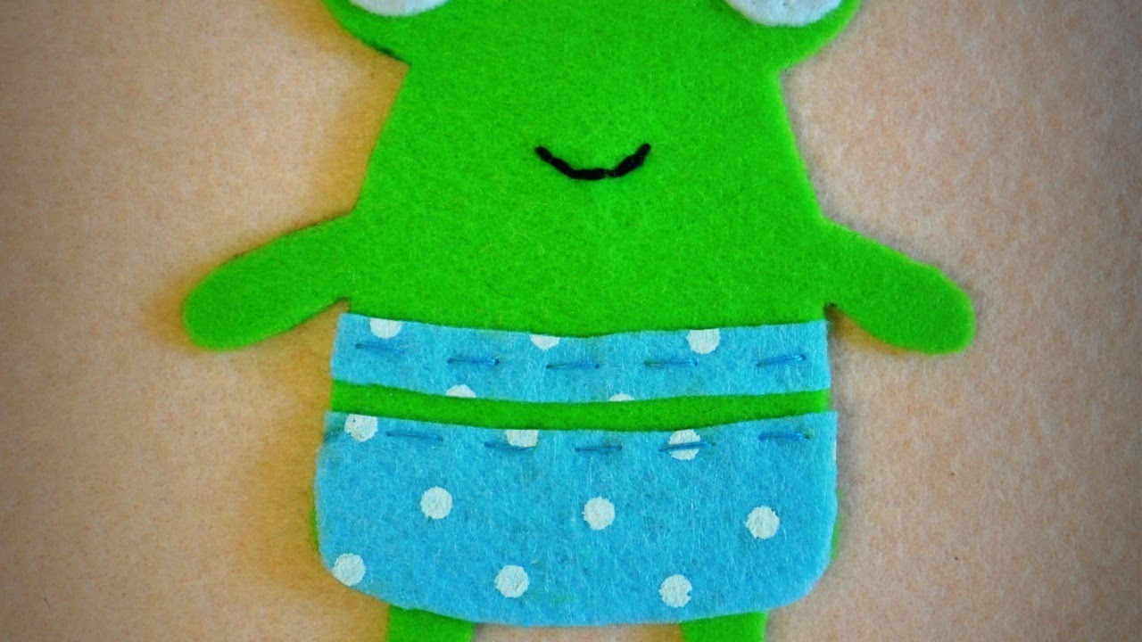 Make Felt Application Funny Frog - DIY  - Guidecentral