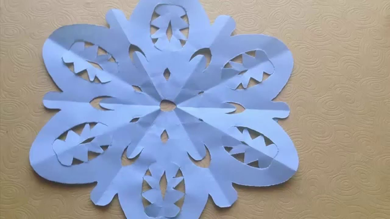 Origami Easy SnowFlakes Tutorial - Origami For Beginners