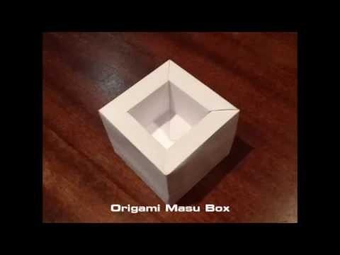 Origami Masu Box tutorial
