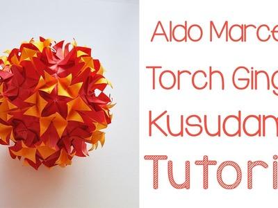 Origami Torch Ginger Kusudama Tutorial