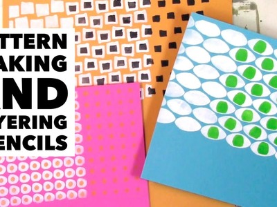 Pattern making and layering stencils tutorial
