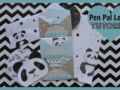 Pen Pal Letter Tutorial Panda Theme