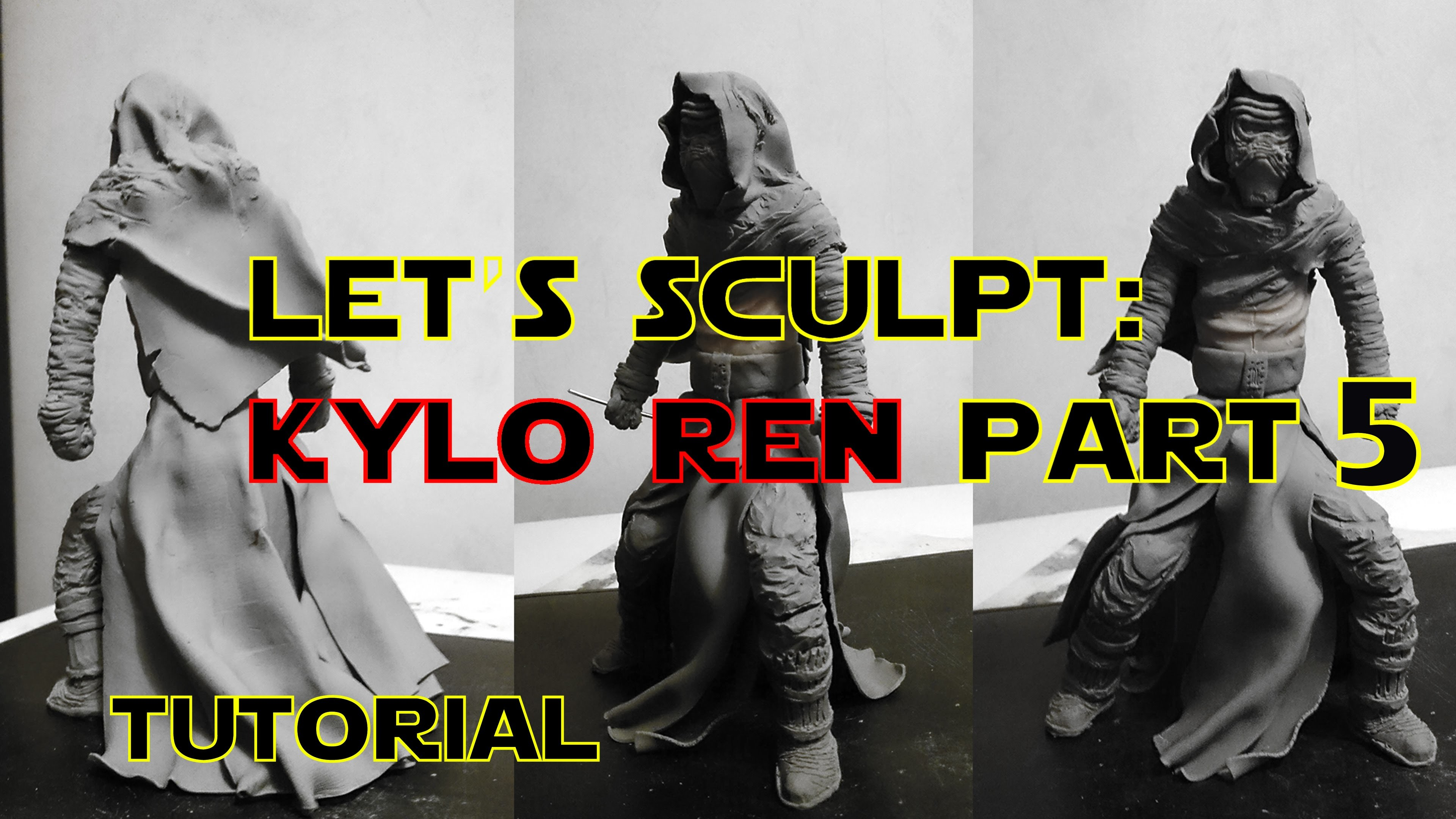 Polymer clay tutorial - Kylo Ren part 5 (beginners and advanced)