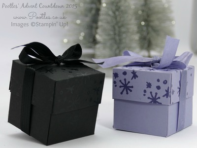 Pootles Advent Countdown #12 Heat Embossed Pretty Box Tutorial