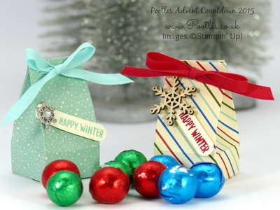 Pootles Advent Countdown #14 Mini Box for Chocolate Balls Tutorial