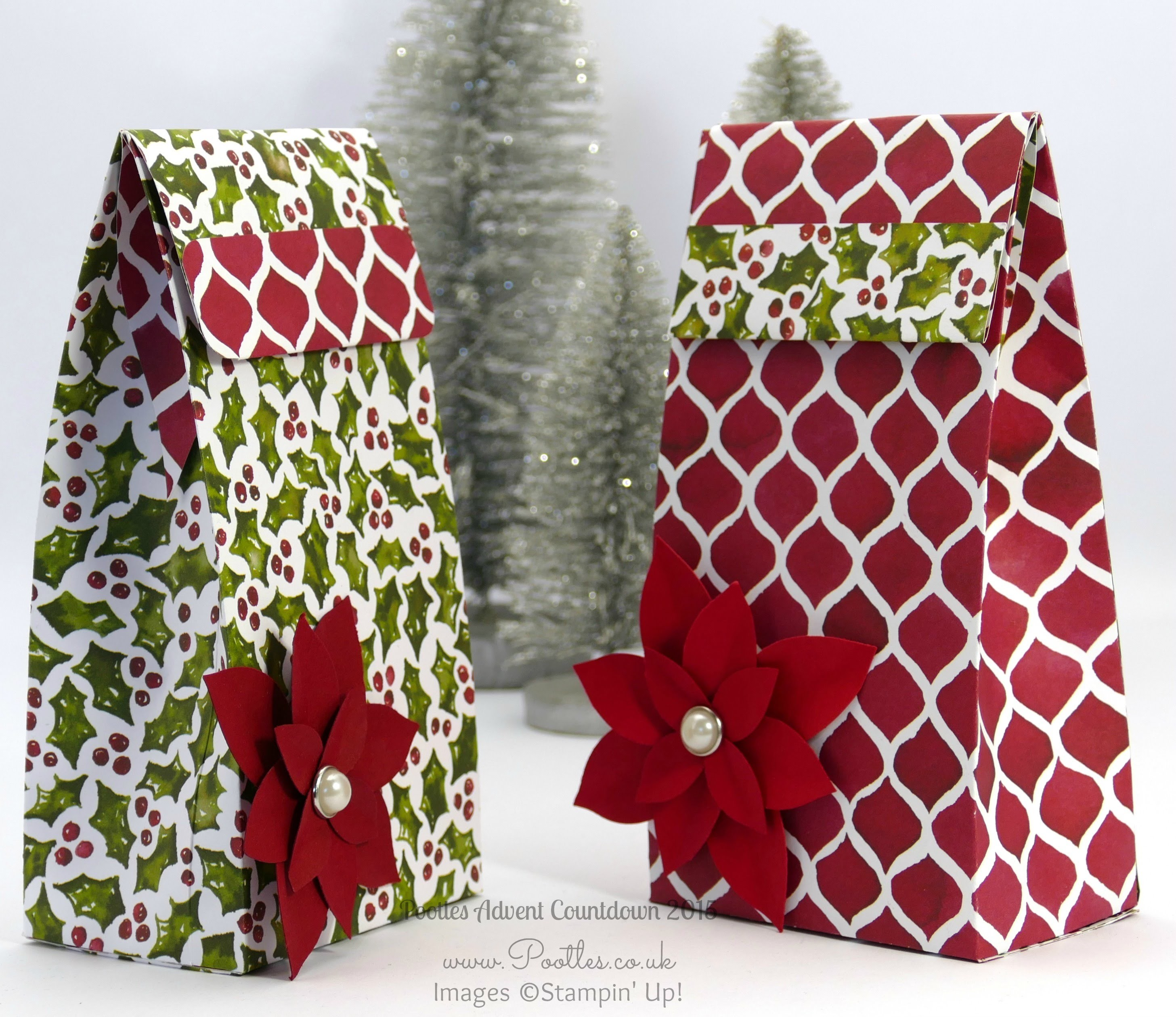 Pootles Advent Countdown #7 Folded Gift Bag Tutorial Large!