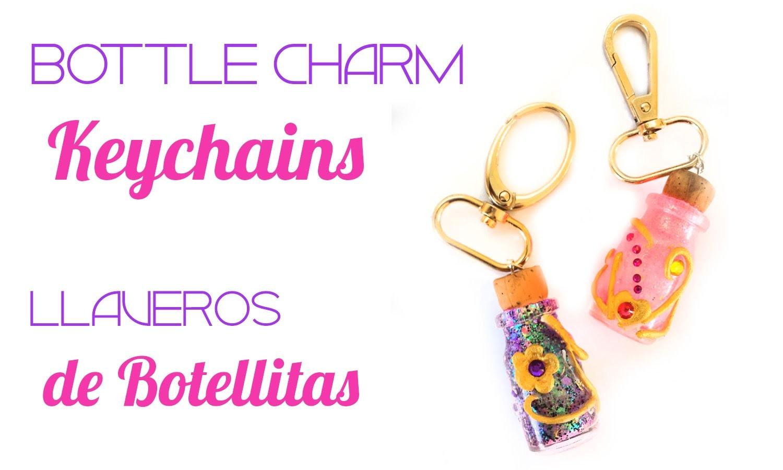 Recycled Bottle charm Keychains Tutorial. Llaveros de botellitas recicladas! Porcelana fría