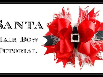 Santa Hair Bow Tutorial - Christmas Hair Bow - Hairbow Supplies, Etc.