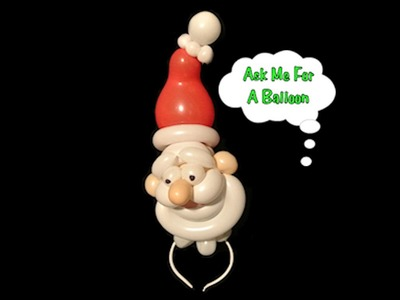 Santa Headband - Balloon Twisting Tutorial Video