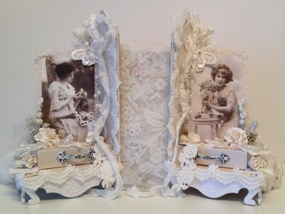 Shabby Chic Romantic Bookends with Bookmark Tutorial  - WOC DT project