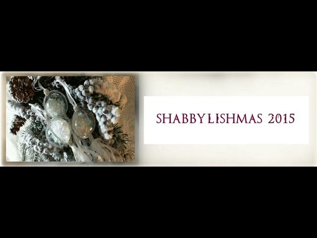 Shabbylishmas 2015 Clear rhinestone baubles tutorial