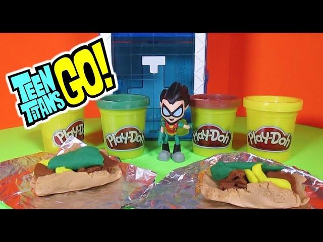 TEEN TITANS GO [Parody] HOW TO MAKE Play-Doh Tacos Tutorial [PARODY]