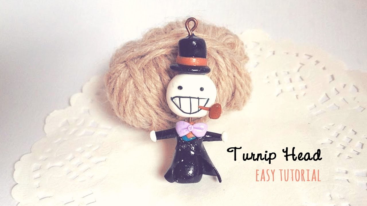 Turnip head inspired charm - super easy tutorial - Collab with PinkSugarCotton