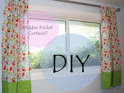 Tutorial hidden pocket curtains for bedroom