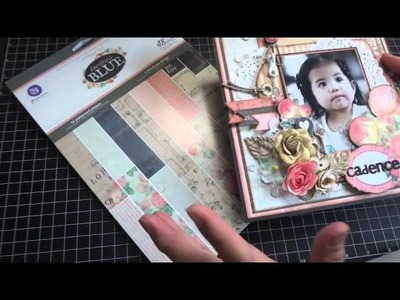 """Tutorial: Layout featuring Prima's """"Something Blue"""" collection"""