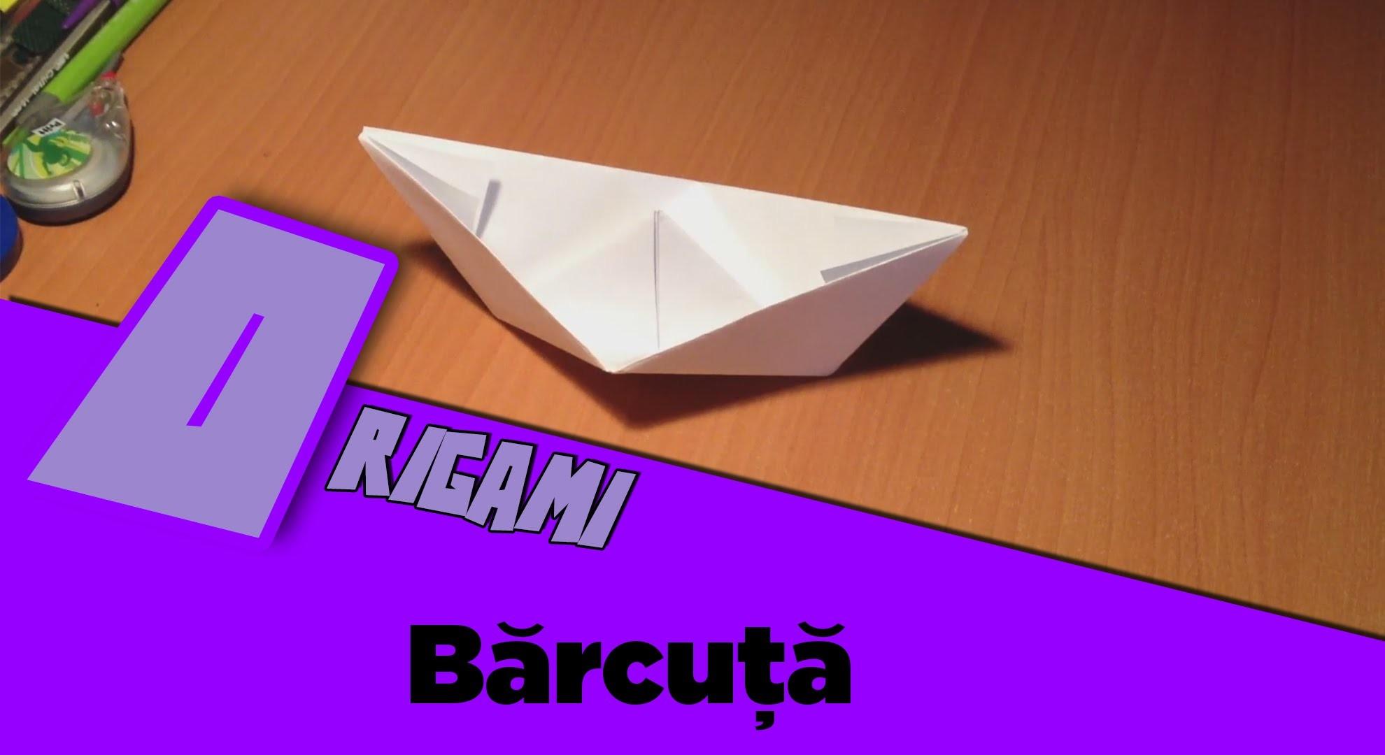 Tutorial Origami - Barcuta