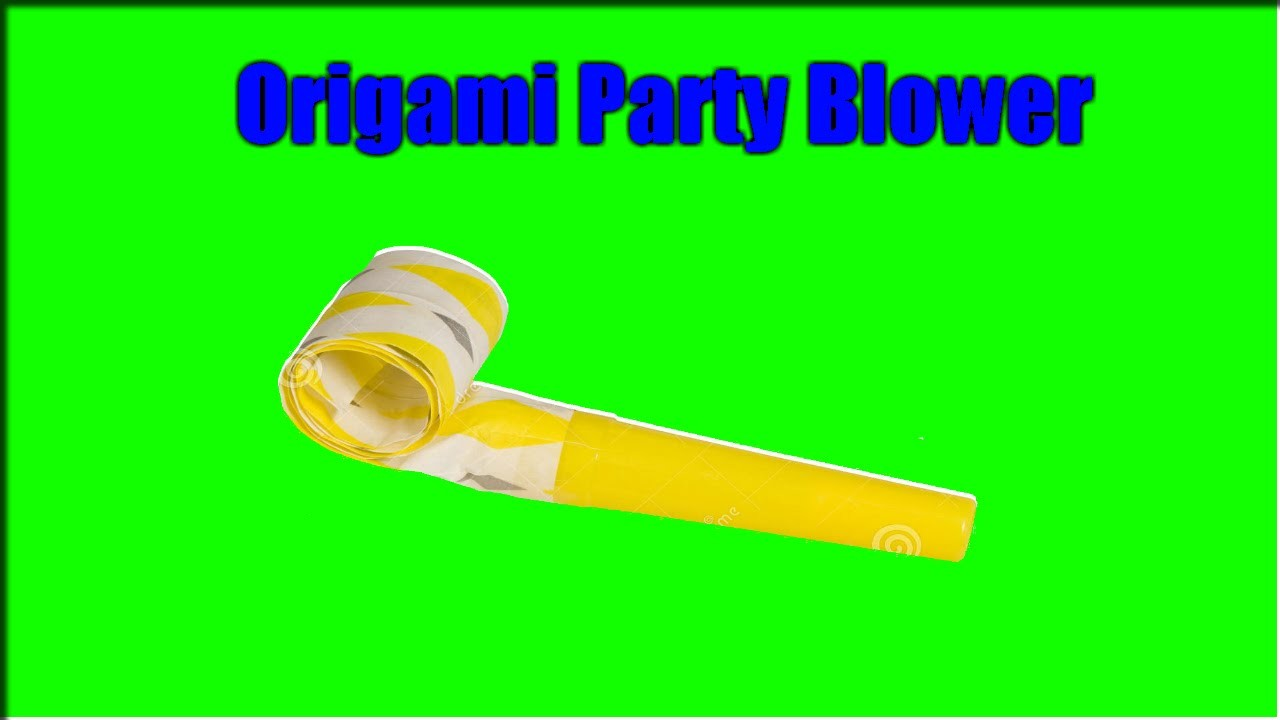 Tutorial-Origami Party Blower