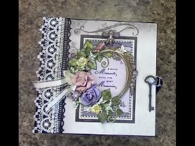 TUTORIAL PART 1 - 8 X 8 MINI ALBUM DESIGNS BY SHELLIE TRANQUIL GARDENS PAPER COLLECTION