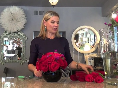 Valentine's Day Floral Arrangement Tutorial with Anuschka from Bloom