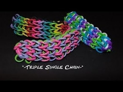 "Wonder Loom tutorial ""Triple Single"" bracelet."