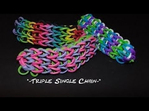 "Wonder Loom tutorial ""Triple Single"" bracelet."
