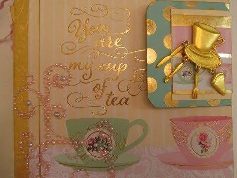 """Your My Cup of Tea"" Scrapbook Album Tutorial"