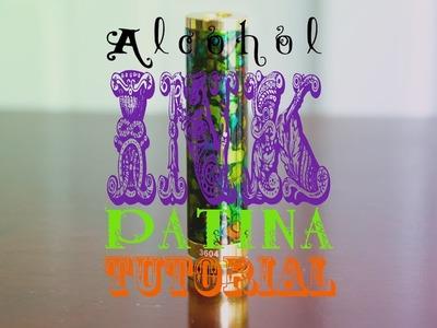Alcohol Ink Patina Tutorial