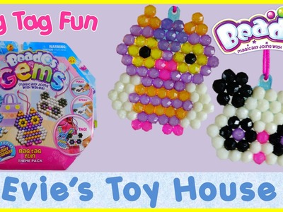 Beados Gems - BAG TAG FUN Theme Pack Review and Tutorial | Evies Toy House