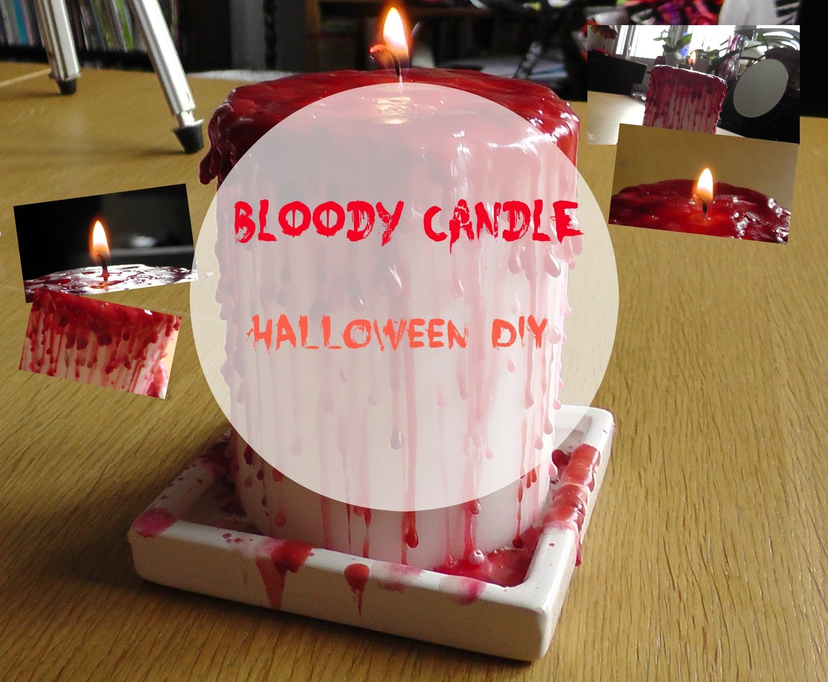 ❤Bloody Candle Halloween DIY | Egoprinsessan ❤