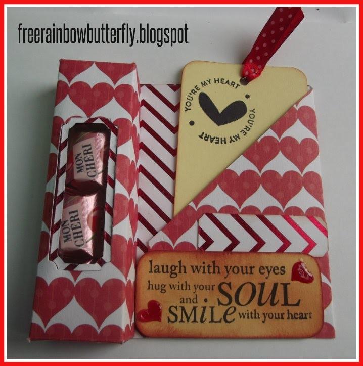Candy box con tag ( tutorial san Valentino )