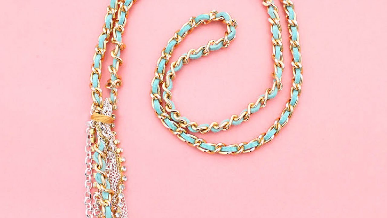 Create a Lovely Woven Chain Necklace - DIY Style - Guidecentral