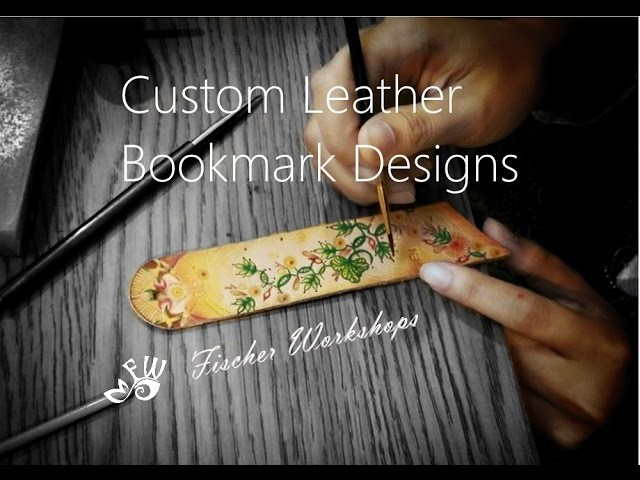 Customizable Leather Bookmark Tutorial