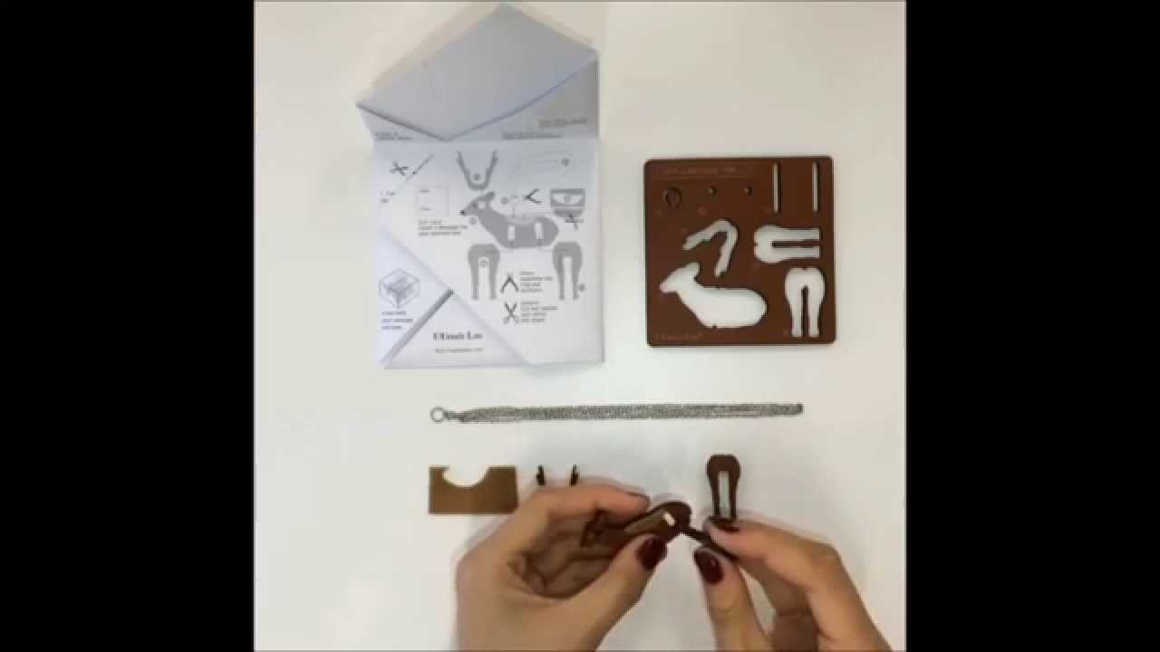 "Demonstration of making the necklace with our ""Leave A Message For. "" DIY Kit"