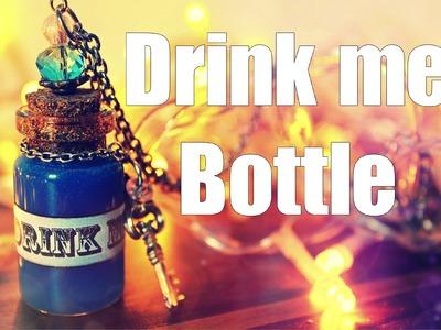"""DIY:  Alice in Wonderland  """"Drink me""""  Bottle Necklace"""