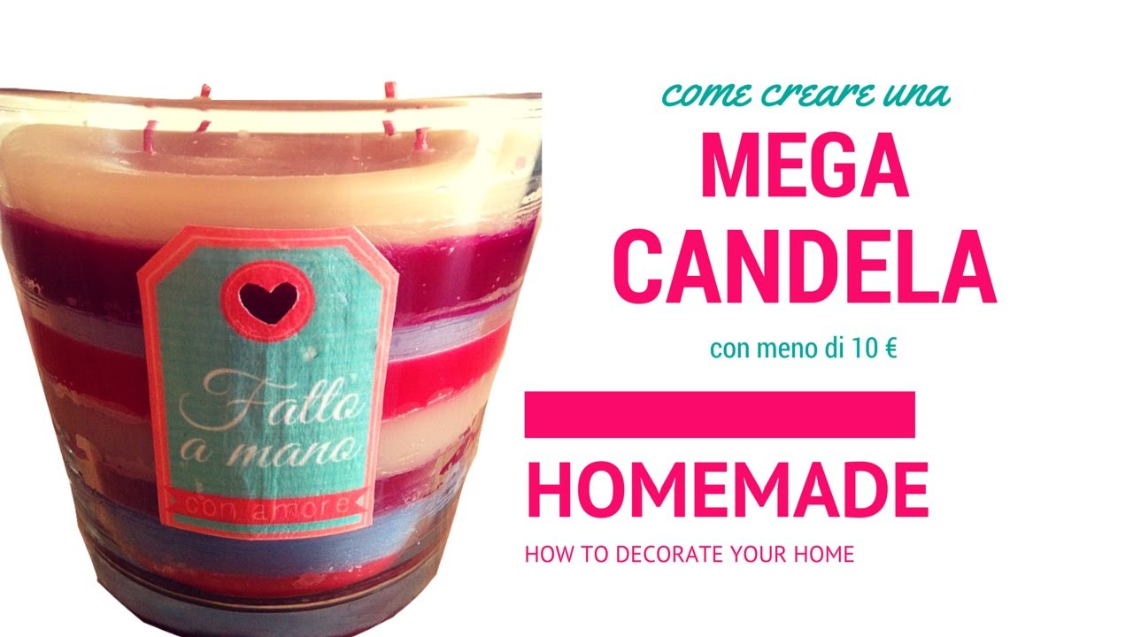DIY candle | candela a righe