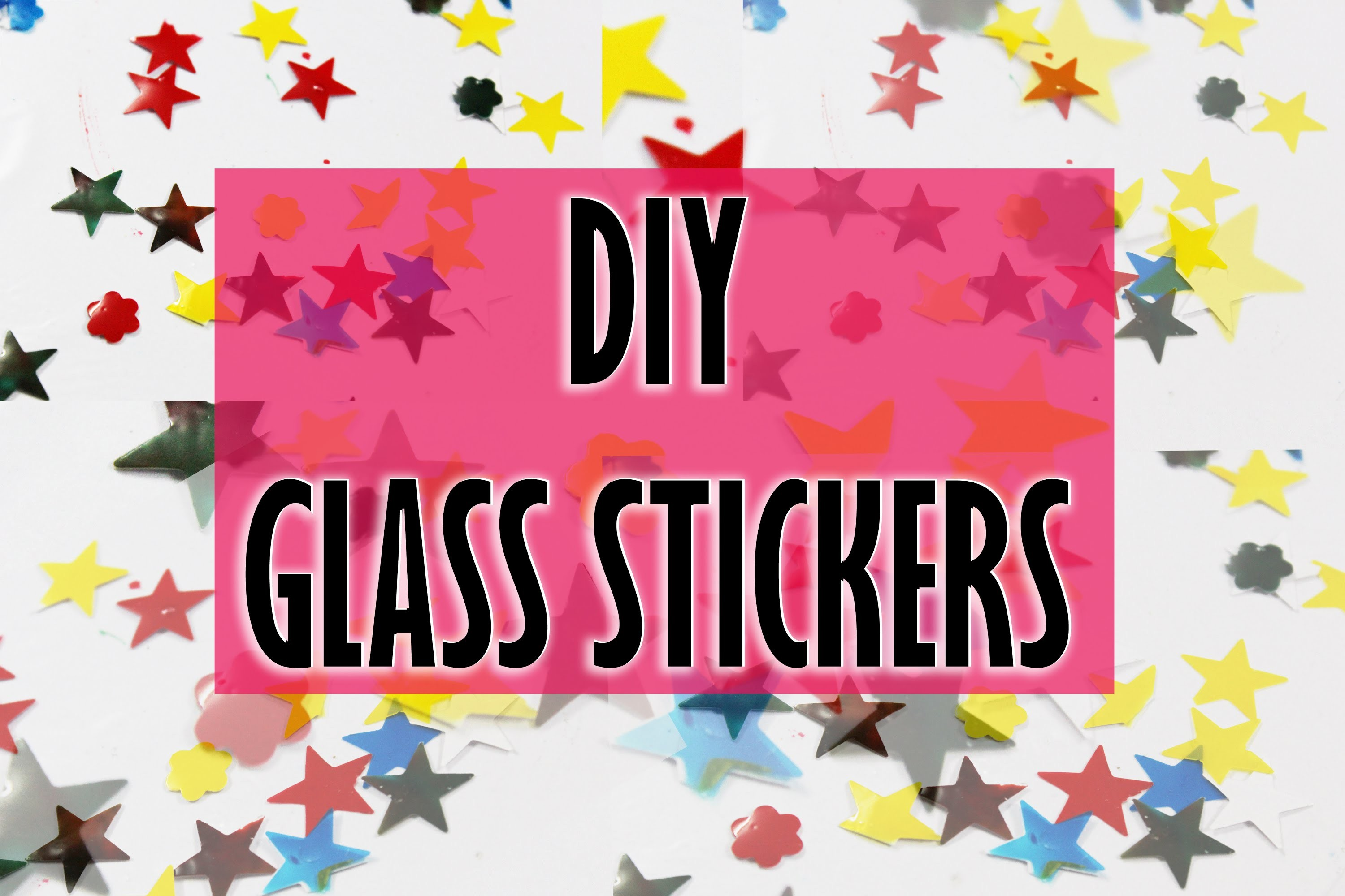 DIY Glass Stickers #OFT2D