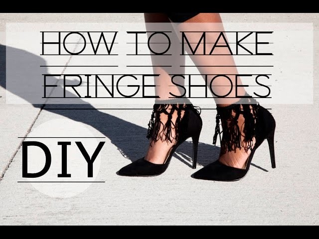 DIY: HOW TO ADD FRINGE TO ANY SHOE! Fringe Heels And Necklace