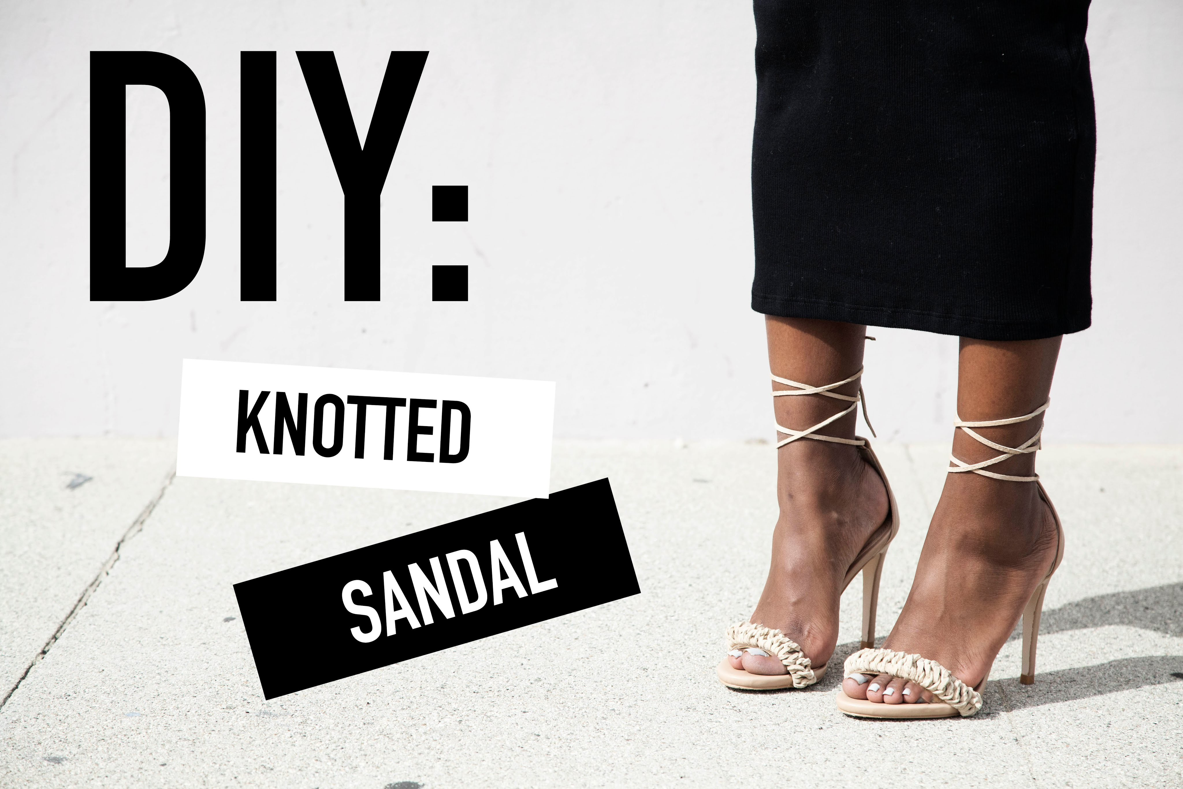 DIY: Knotted Sandal