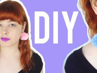 DIY Pom Pom Earrings | Make Thrift Buy #31