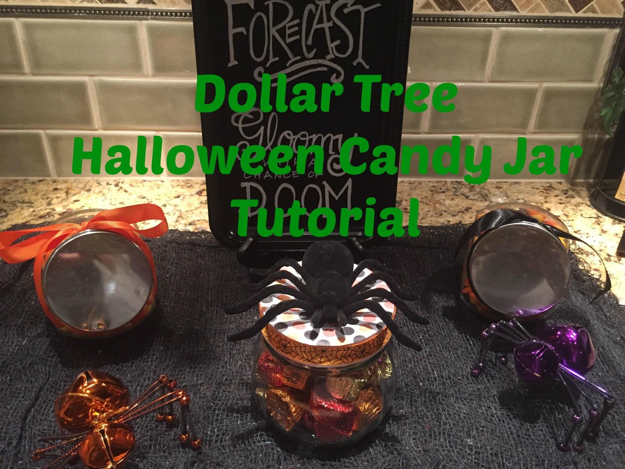 Dollar Tree Halloween Candy Jar Tutorial