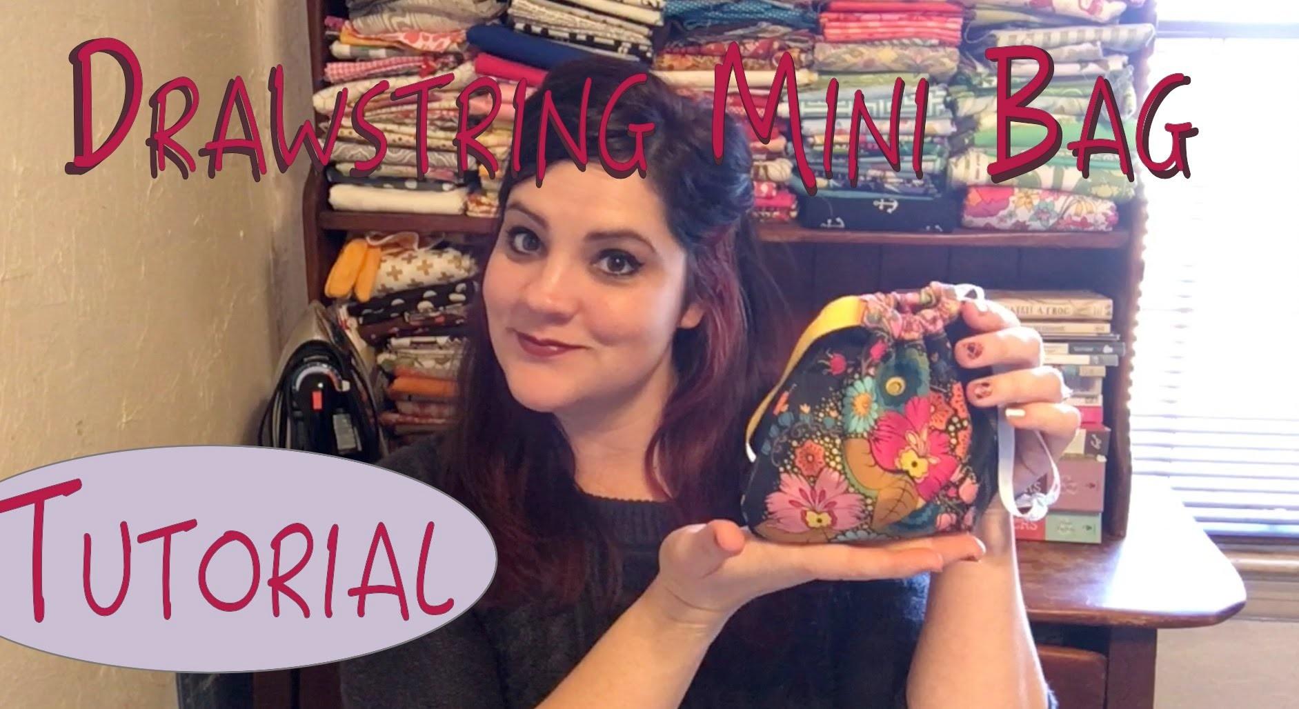 Drawstring Mini Bag Tutorial