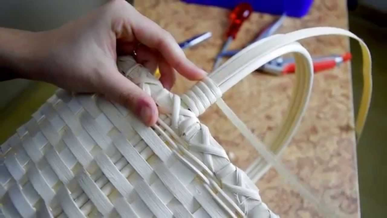 Easy-Basket Tutorial; oval shopping basket part4