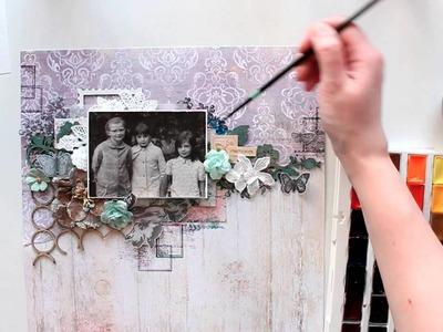 "Elena Morgun step-by-step layout ""Sweet"" tutorial"
