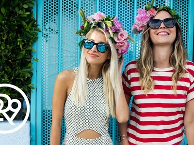 Evelina Makes DIY Flower Crowns In Downtown Los Angeles