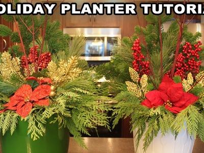 Festive Holiday Planter Tutorial | Vlogmas Day 2