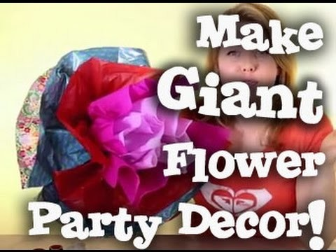 Giant 3D Flower Decoration Tutorial - Parties Weddings Celebrations Events