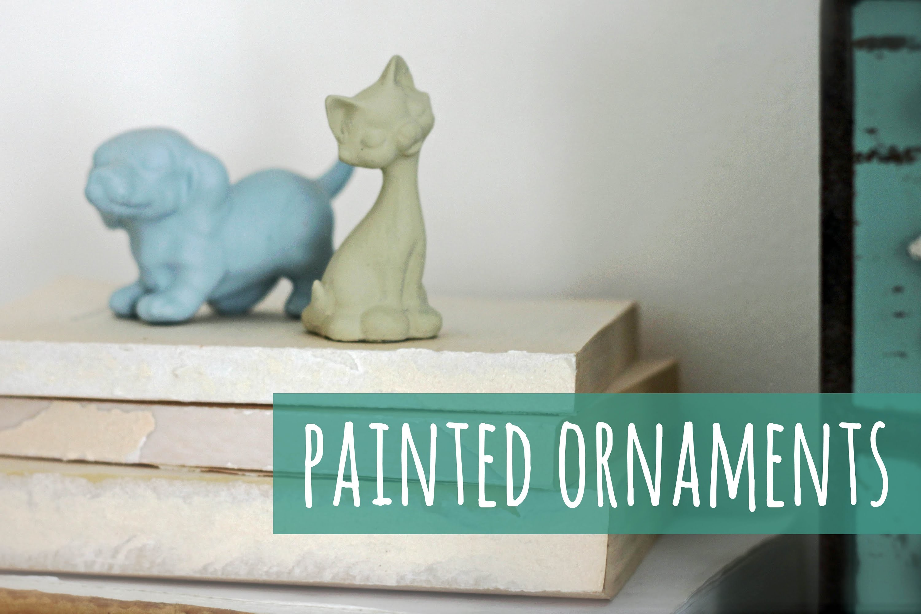 Give you figurines a makeover, painted ornaments tutorial